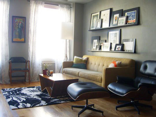 . The Eames Lounge Chair In Small NYC Apartments And Other Small Spaces