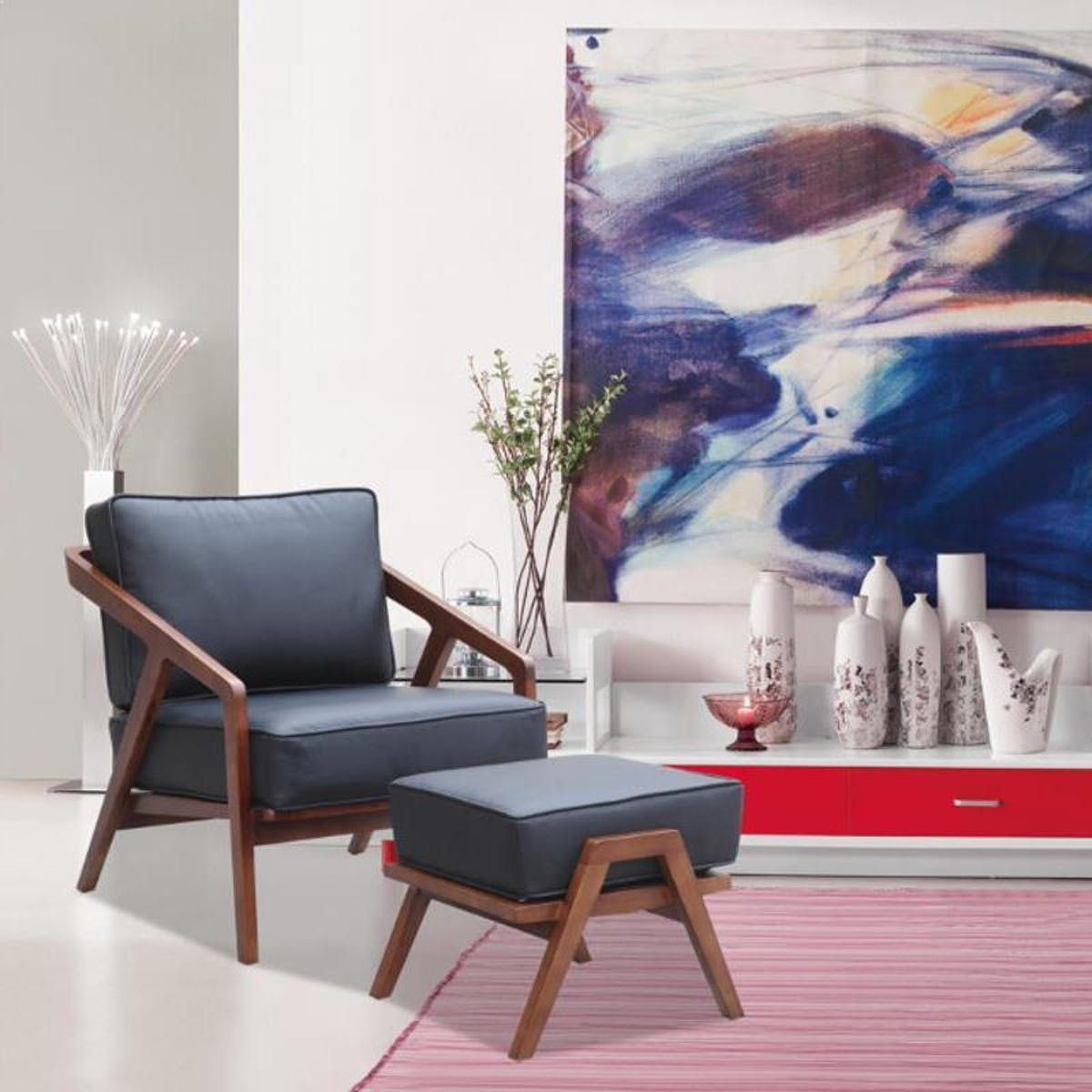 Pleasant Inspot Lounge Chair And Ottoman Gray Caraccident5 Cool Chair Designs And Ideas Caraccident5Info